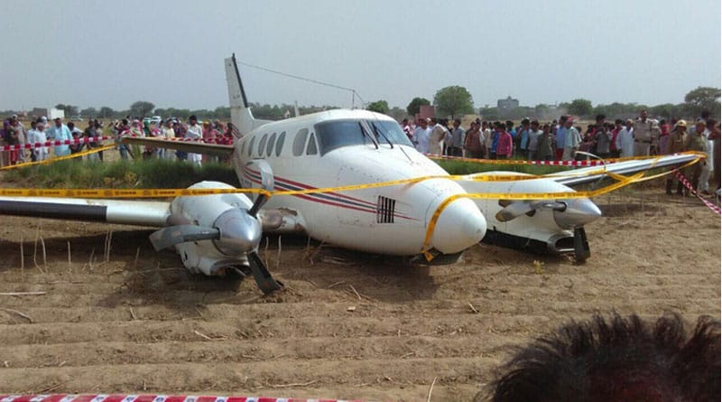 Air ambulance carrying at least seven people crash lands in Najafgarh area