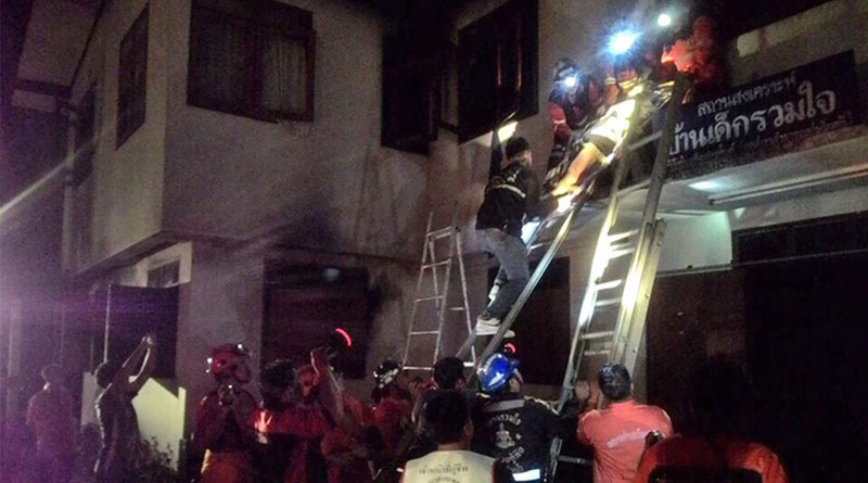 18 girls killed in fire at school dorm in Thailand