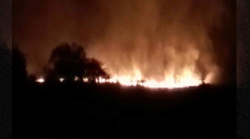 Fire Broke Out in Shoe Factory near Basanti Highway