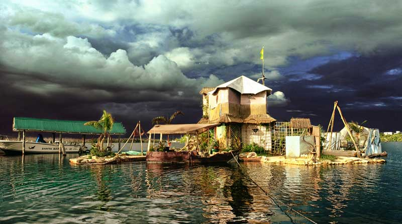 Meet the man who lives on a floating island made of plastic bottles