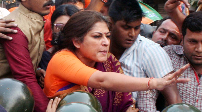 Attack on Bjp leader Roopa Ganguly