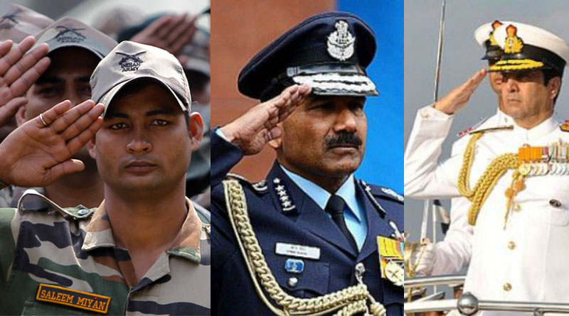 Why Army-Navy-Air-Force-Salutes Differently?