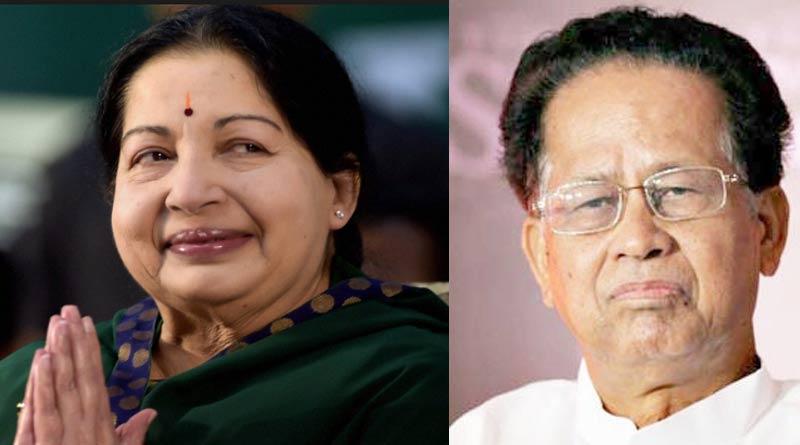 Jayalalithaa headed for historic win in Tamil Nadu, gogoi loses assam