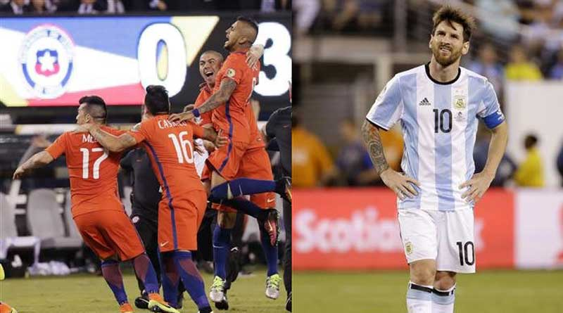 Lionel Messi misses penalty as Chile beat Argentina in Copa final
