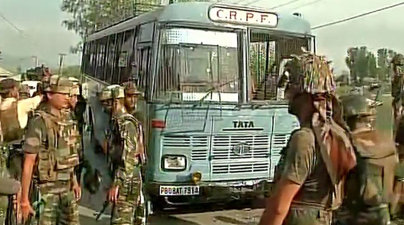 Five CRPF personnel killed in the shootout in Pulwama of south Kashmir: Police.