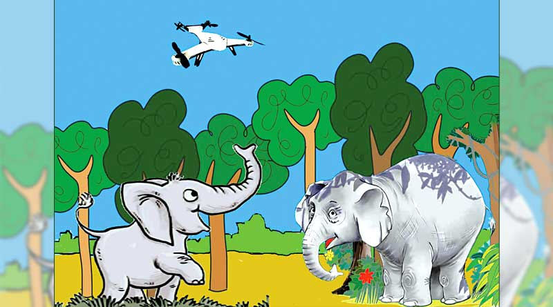 Now drone will monitor wild Elephants at JungalMahal