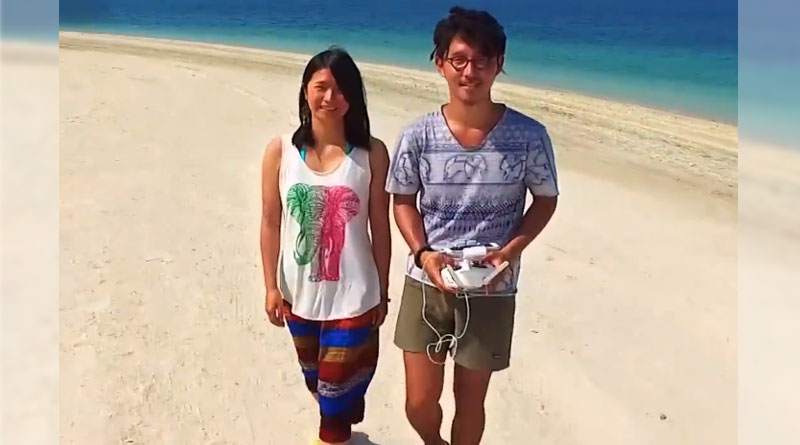 Selfies? Pass. These Japanese Honeymooners Have Something Better: Dronies