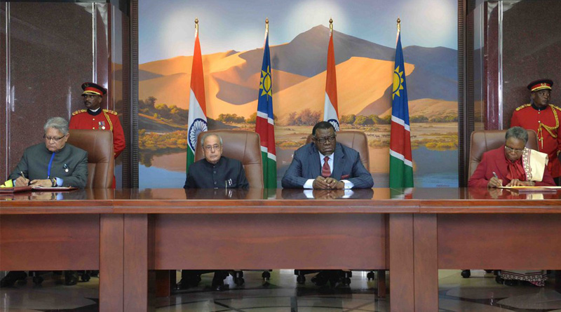 """Resource-rich Namibia on Friday assured that it will look into """"legal ways"""" through which its uranium can be supplied to India for peaceful nuclear use."""