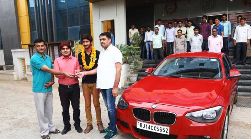 A Coaching Institute In Rajasthan Gave A Student A BMW For Doing Well In The IIT-JEE