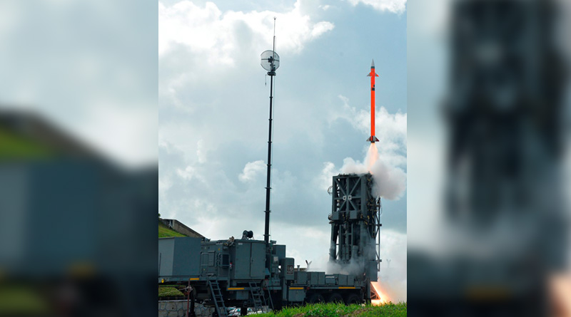 India successfully test fired a new surface-to-air missile from a defence base off Odisha coast.