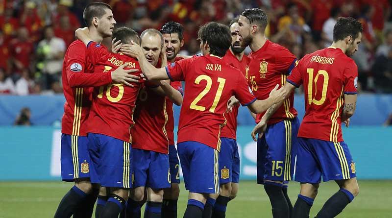 Spain beat turkey by 3-0: euro 2016