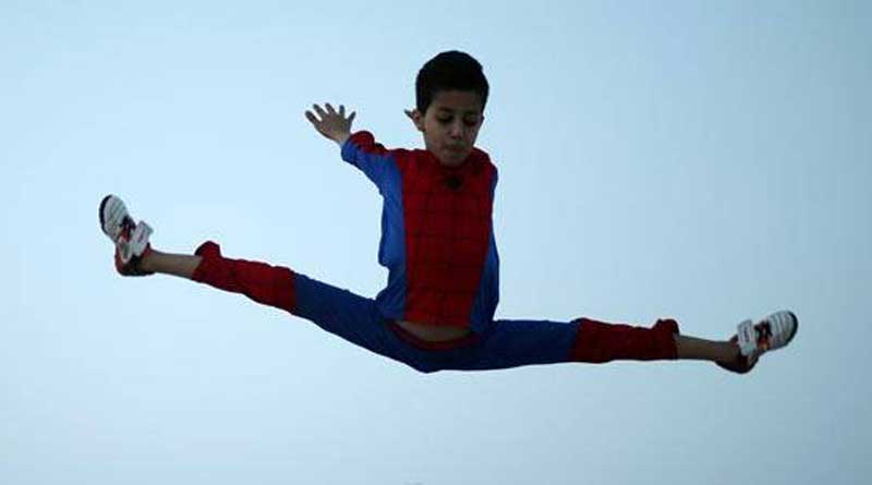 Meet Gaza's 12-year-old 'Spiderman' whose acrobatic skills are too good to be real