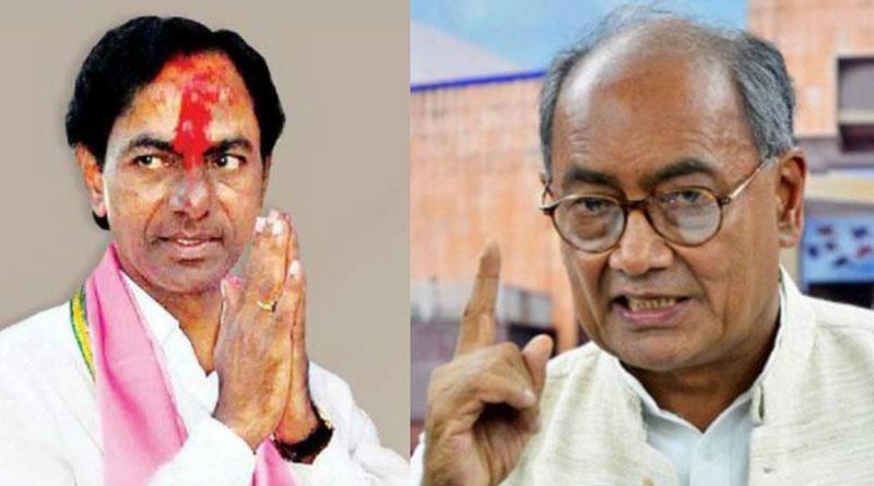 Shame on you KCR: Digvijaya tells Telangana CM on celebrations