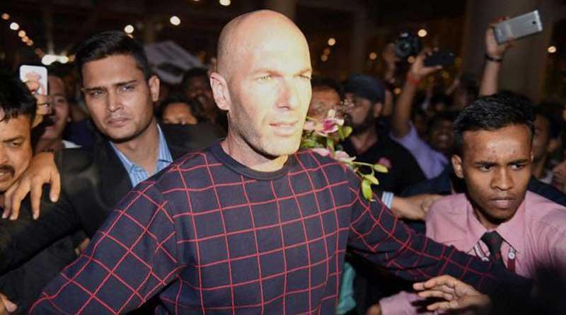 French legend Zinedine Zidane arrives in Mumbai