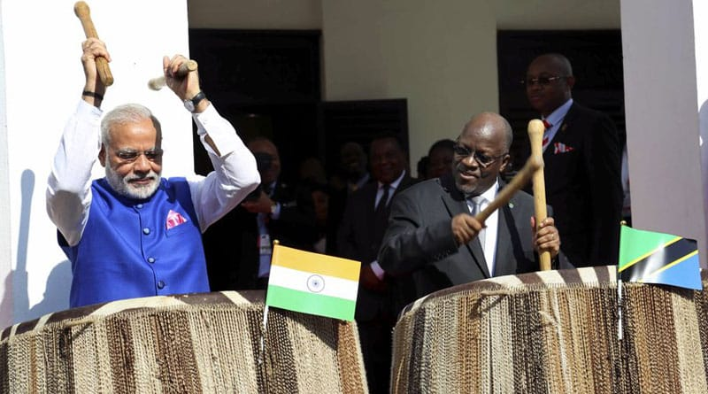 PM Modi Plays Traditional Tanzanian Drums Like A Pro, Wows His Audience