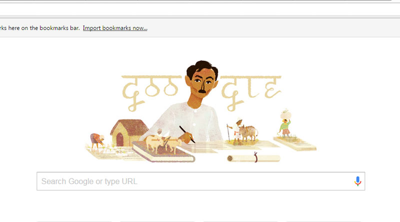 Google Pays Tribute To  Premchand With A Doodle