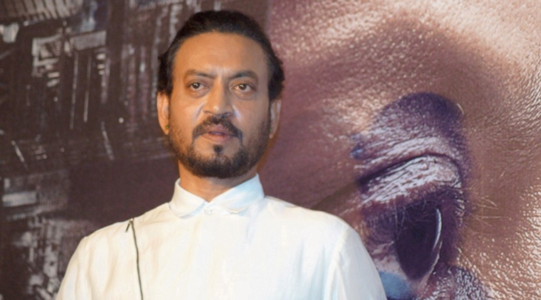 Mumbai: Actor Irrfan Khan during the trailer launch of film Madaari, in Mumbai on May 11, 2016. (Photo: IANS)