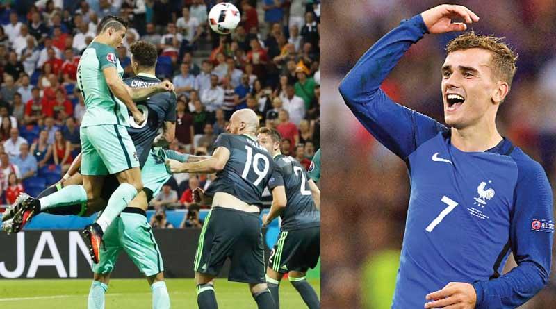 Portugal vs France in Euro 2016 final