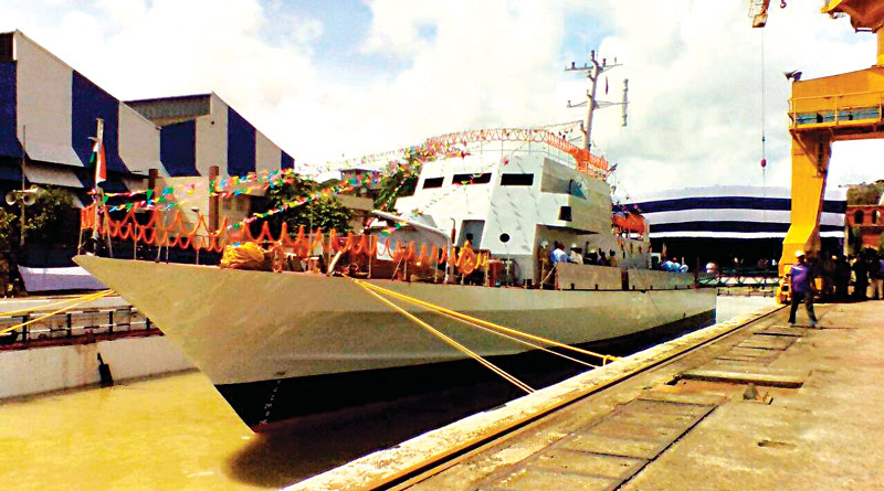 High-speed OPV INS Tarasa launched