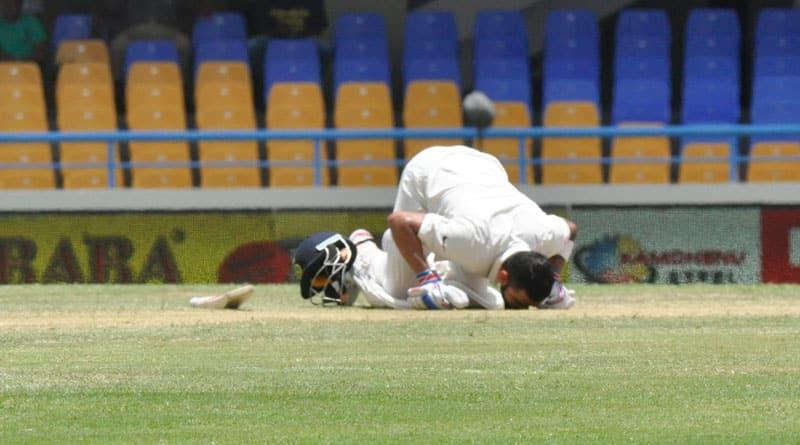 virat kohli's first test double ton against west indies