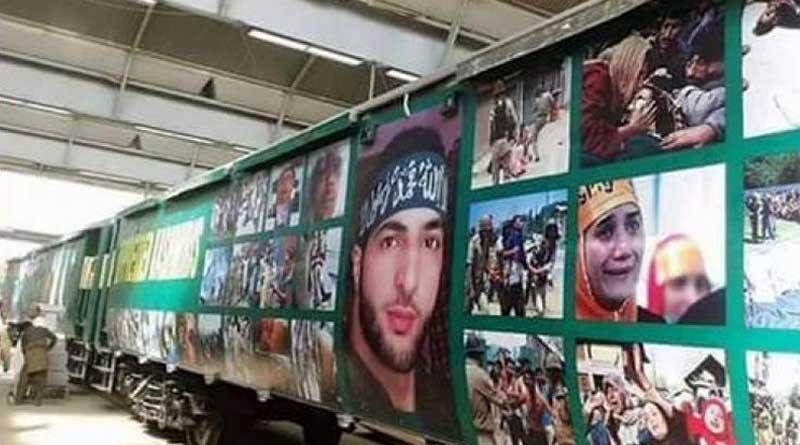 Pakistan decorates 'Azadi Express' with  Burhan Wani's posters
