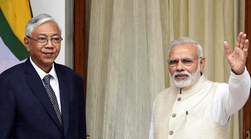 India offers to stand by Myanmar, to counter China's clout