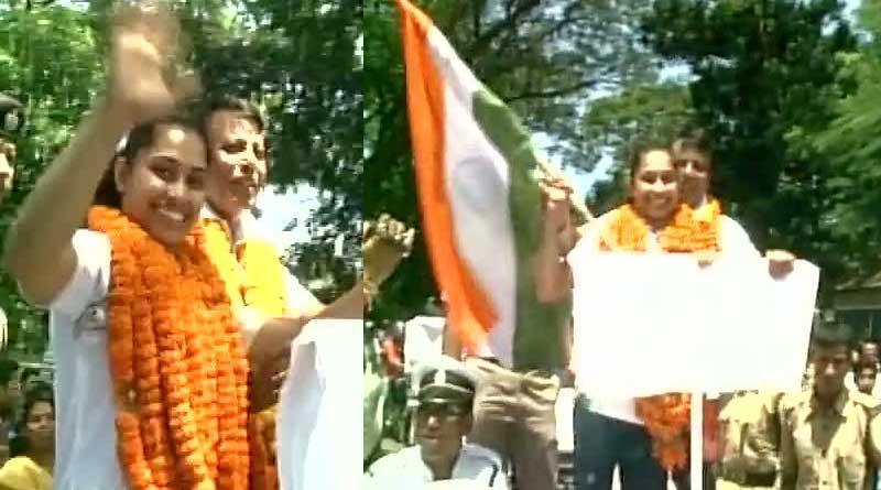 Agartala wellcomes Dipa Karmakar with a grand celebration