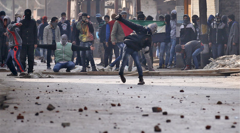 Four people were killed on Tuesday in retaliatory action by the security forces against stone-pelting protesters