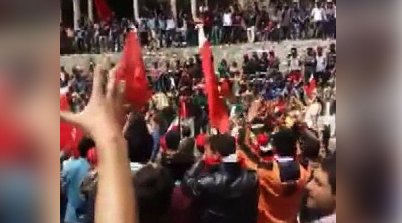 Protest in Pak occupied Gilgit Baltistan against Pakistan and demanding release of activist Baba Jan