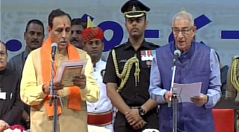 Vijay Rupani was sworn in as chief minister of Gujarat
