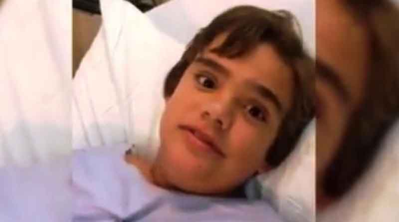 Boy who accidentally swallowed a toy, squeaks every time he moves