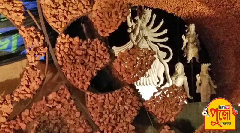 Puja preparation Badamtala Ashar Sangha