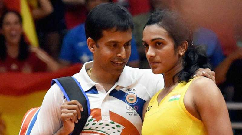 Coaches of Sindhu, Dipa, Sakshi celebrate their victory in silence