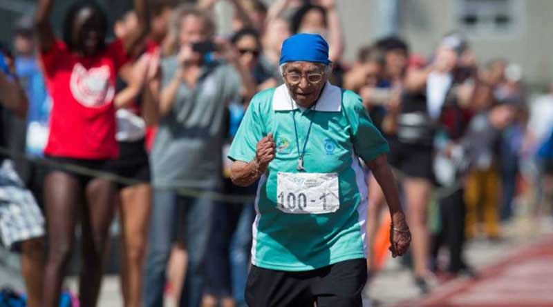 India's 100-Year-Old Runner won a Gold Medal at the Americas Masters Games