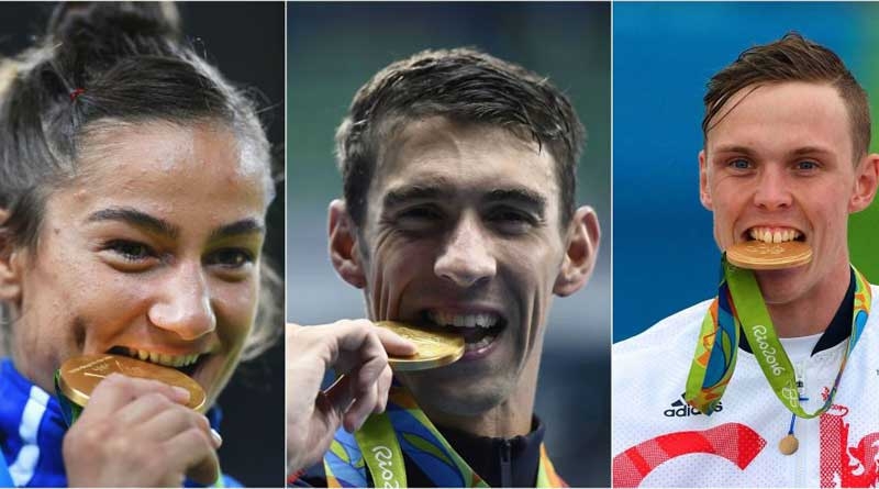 Why do Olympic winners bite their medals?