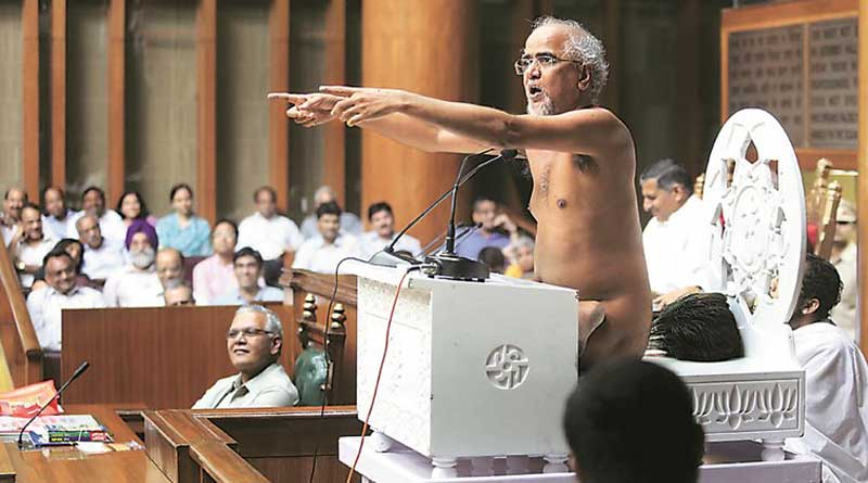 Nude Monk recommended ways to eradicate female foeticide in Haryana Assembly