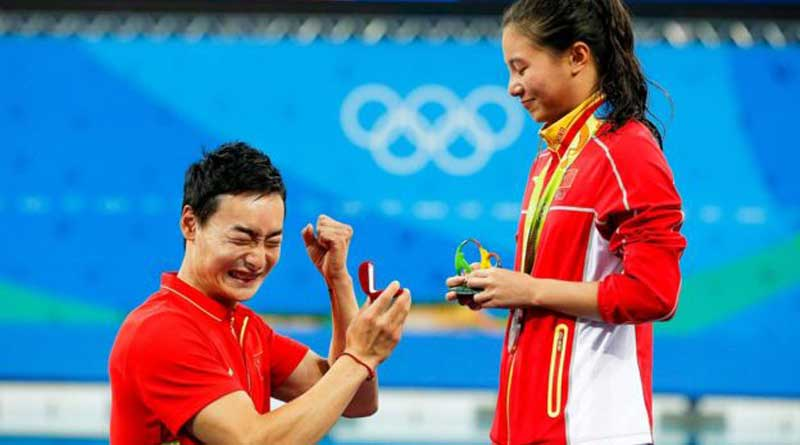 Chinese athlete receives marriage proposal after winning silver medal in olympic