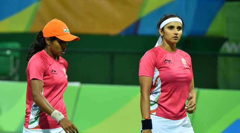 after leander, sania and her partner exit from women's doubles
