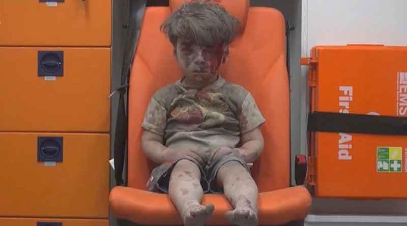 This Chilling Photo Of A 5-Year-Old Syrian Boy