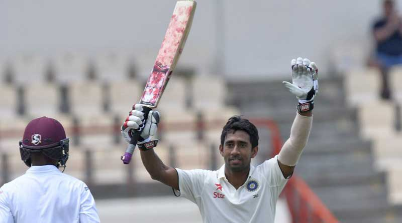 wriddhiman and ashwin hits century in 3rd test against west indies