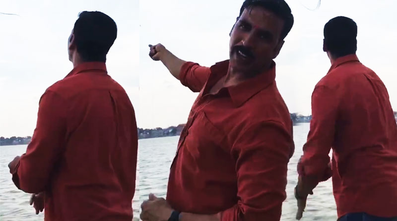 Akshay Kumar's kite flying session on the banks of Ganga