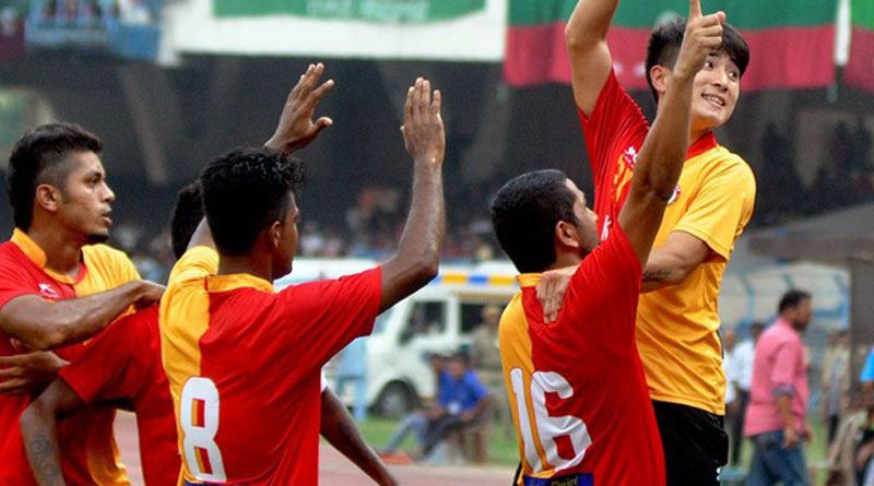 EASTBENGAL WINS AGAINST GEORGE TELEGRAPH