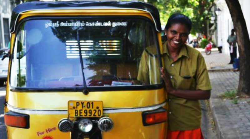 This Lady Auto rickshaw Driver from Pondicherry Is Breaking Stereotypes