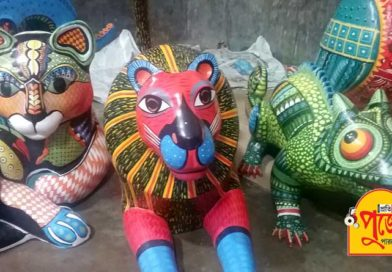 পুজোয় ভিনদেশি পুতুলে সাজছে নলিন সরকার স্ট্রিট সর্বজনীনের মণ্ডপ
