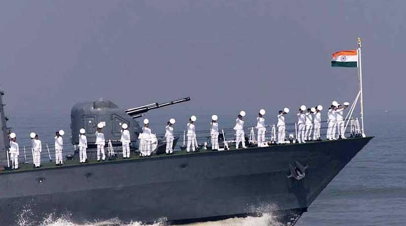 Students get stampede in navy exam.