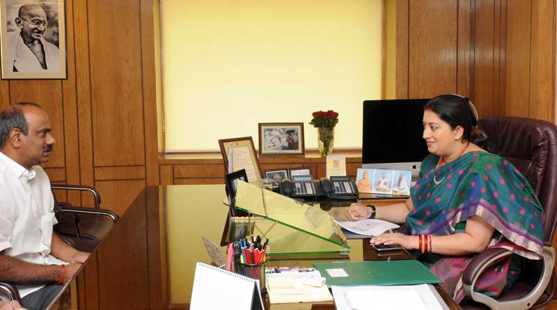 Smriti Irani spent Rs 70 lakh on office decor
