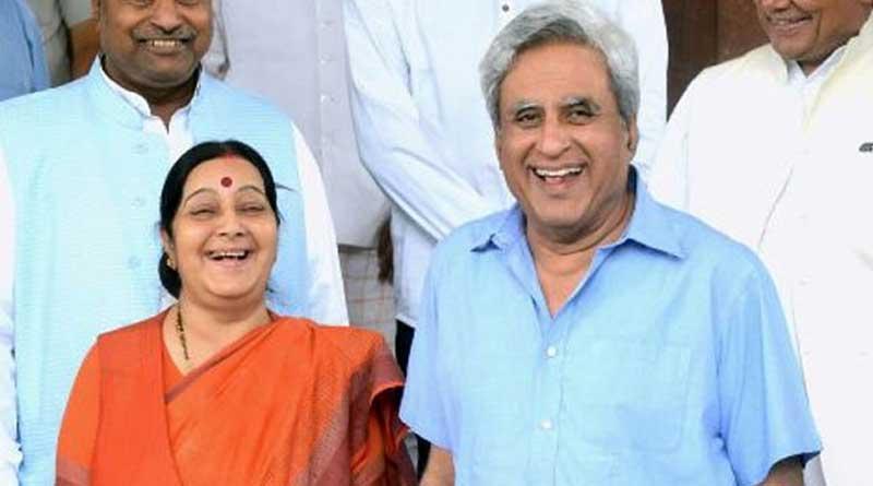 Sushma Swaraj's Husband won the internet with witty response