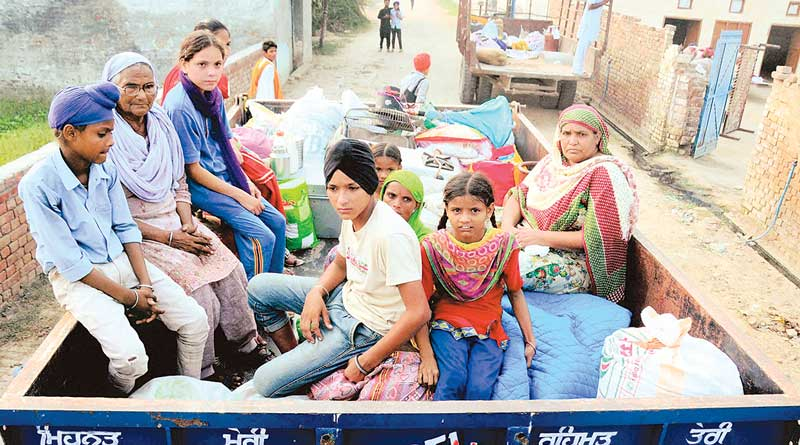 People from borderline area denies to stay in refugee camps