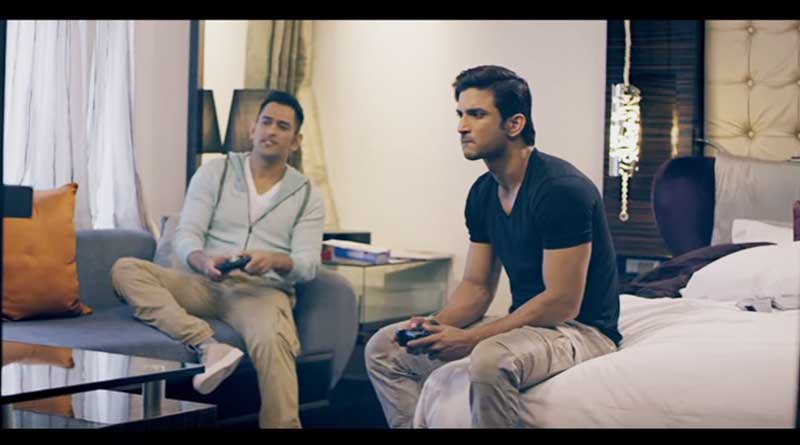 new promo of MS Dhoni: the untold story featuring Sushant Singh Rajput and Dhoni