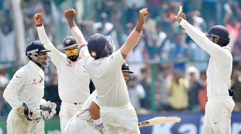 India wins 500th test against NewZealand by 197 runs
